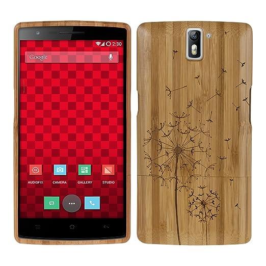 111 opinioni per kwmobile Custodia in legno per OnePlus One Cover legno naturale bambù Design
