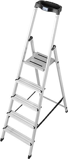 Krause - escalera de mano (aluminio), de tijera (, 5 niveles de: Amazon.es: Bricolaje y herramientas