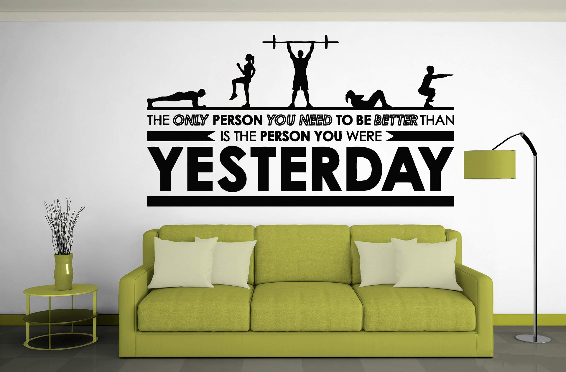 Motivational Inspirational Gym Wall Decals - Workout Fitness Crossfit Exercise Room Art Decor Vinyl Stickers - Quotes Sayings Signs Poster Decorations - Beast Mode On GY331
