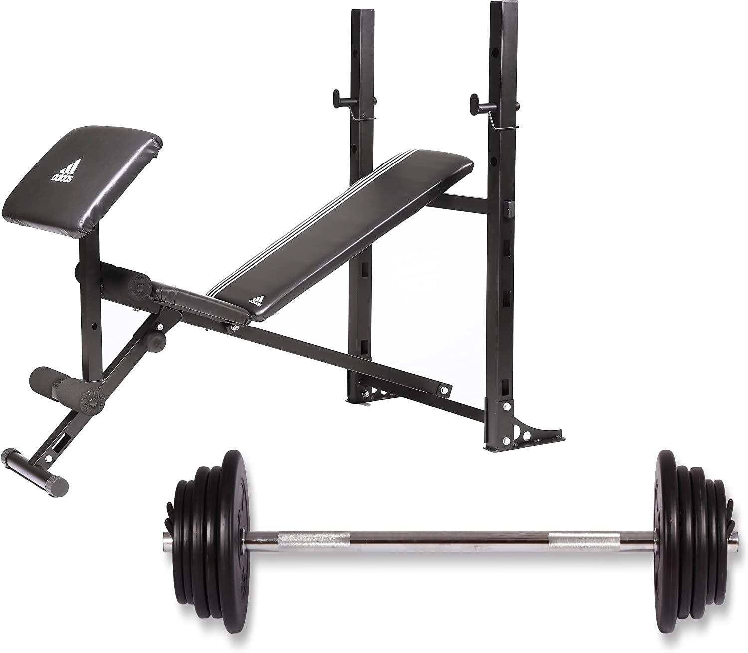 infinito rutina tramo  Adidas Home Gym Weight Bench Essential 45 kg: Amazon.co.uk: Sports &  Outdoors