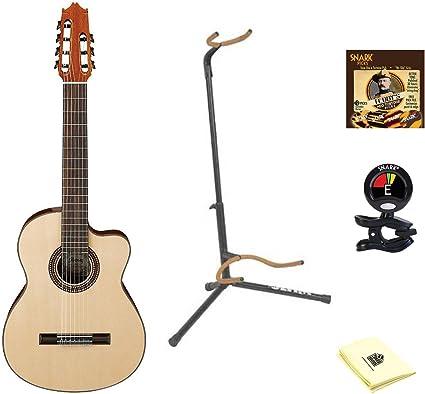 Ibanez g207cwcnt parte superior sólida clásica acústica (7 cuerdas ...