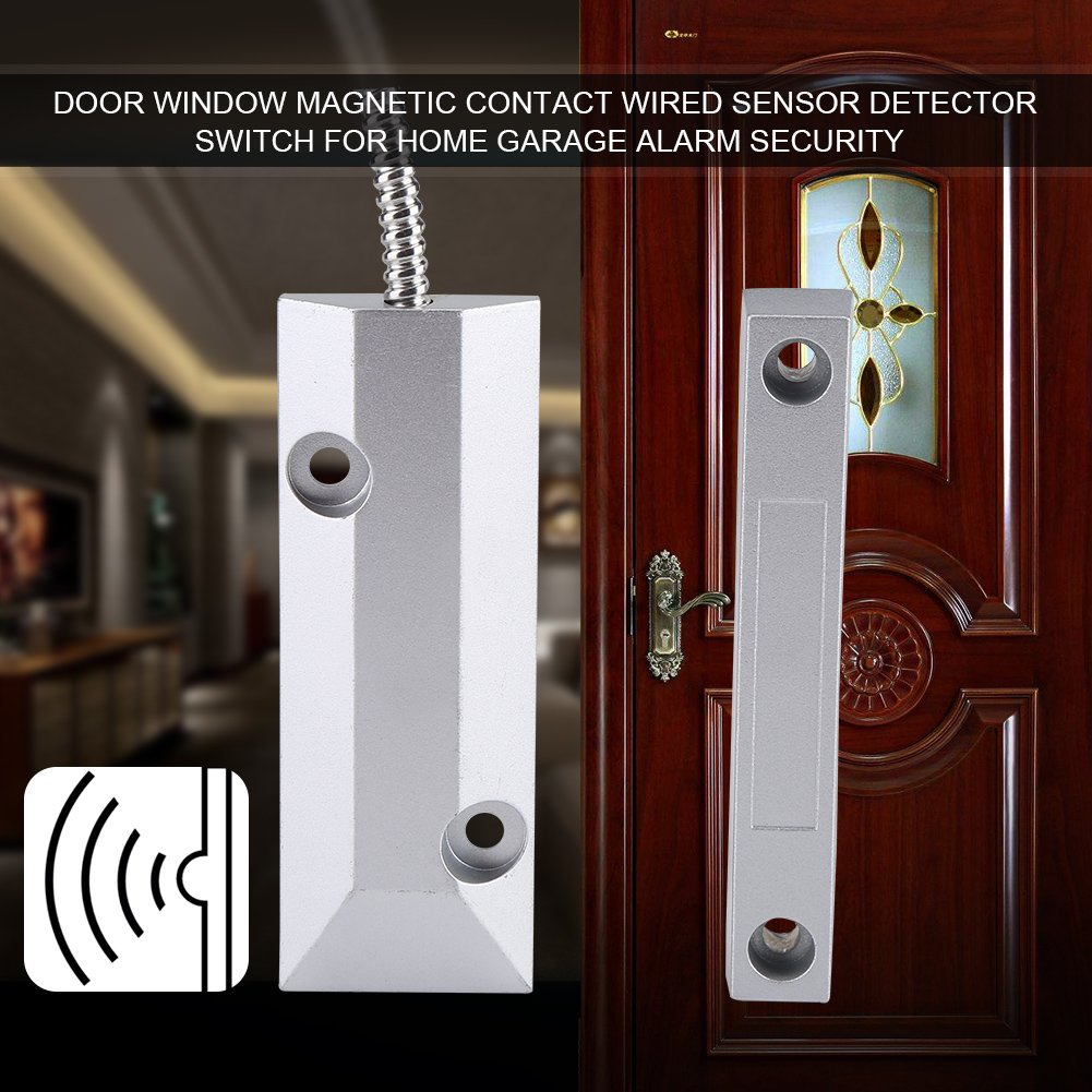 Amazon.com: Zerodis Wired Metal Door Window Magnetic Contact Sensor Detector Switch Alarm Home Garage Security Kit: Home & Kitchen