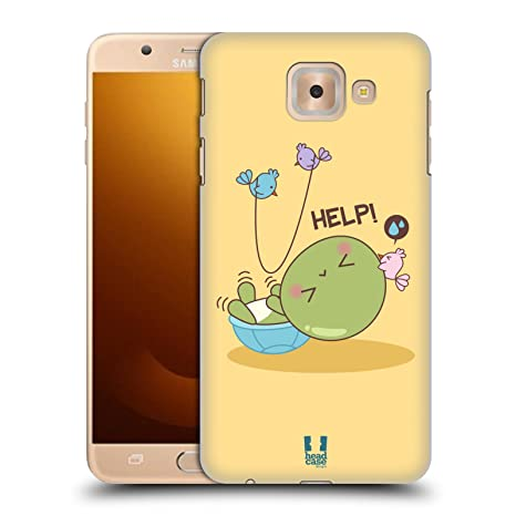 Head Case Designs Kawaii Tortugas Hard Back Case para Samsung Phones 3, plástico, Fell, Samsung Galaxy J7 Max
