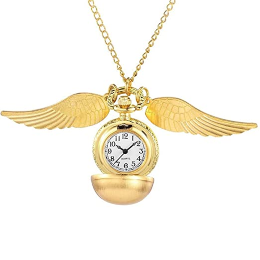 Amazon gorben ball wings golden snitch pocket fob watch pendant gorben ball wings golden snitch pocket fob watch pendant chain box mozeypictures