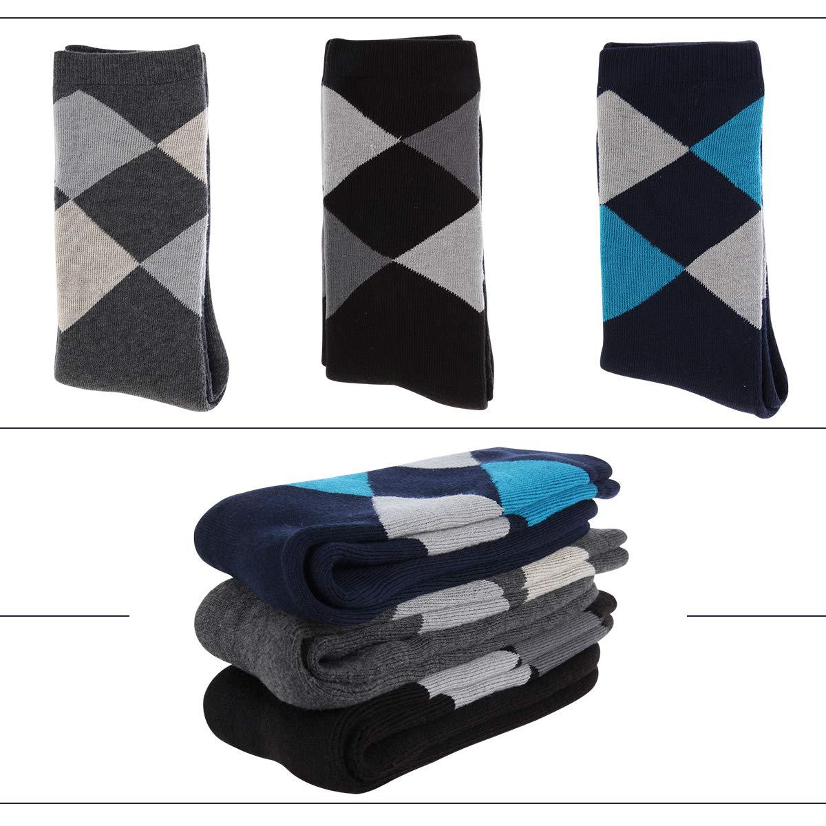 3 Pack Eallco Mens Extra Heavy Cushion Moisture Wicking Crew Socks