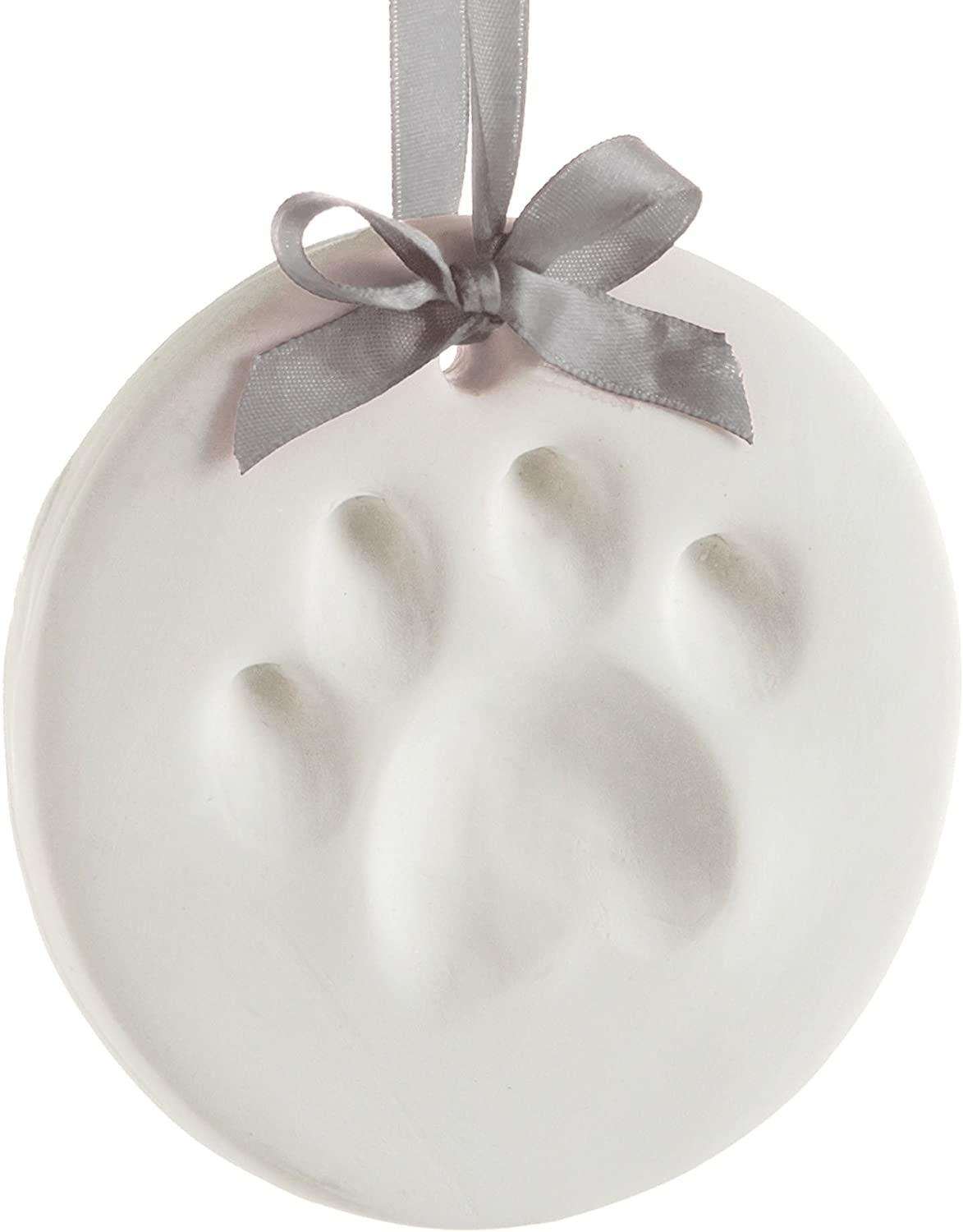 Pearhead Pawprints Double-Sided Holiday Photo Ornament with Clean-Touch Ink Pad