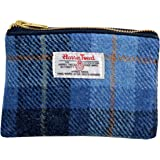 Vagabond Bags Harris Tweed Check Cosmetic Toiletry Bag, 16 cm, Mid Blue