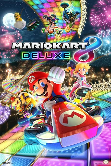 Pyramid America Mario Kart 8 Deluxe Video Gaming Poster 12x18 Inch