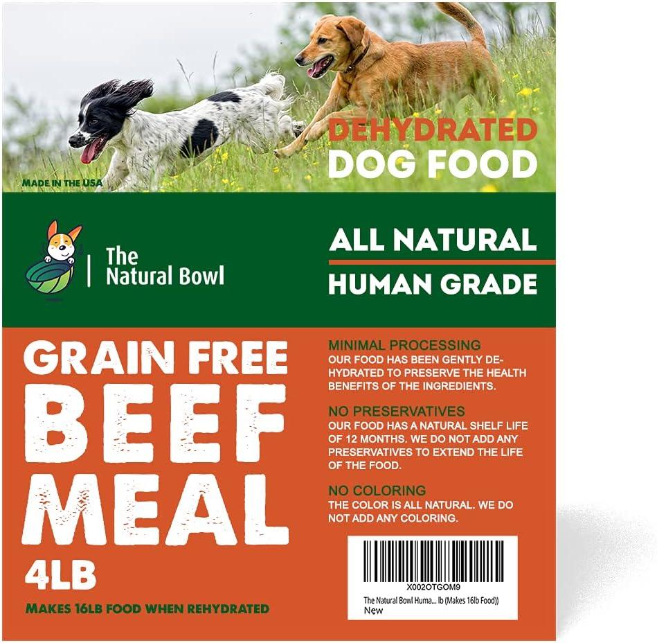 The Natural Bowl Dehydrated Human Grade Healthy Grain Free Beef Dog Food