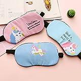 Fashion Unicorn Flamingos 4Pcs Sleep Mask Cover