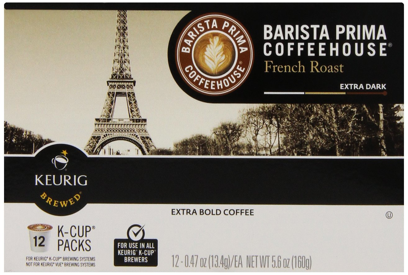 Barista Prima Coffeehouse Coffee, Keurig K-Cups, French Roast, 72 Count by Barista Prima