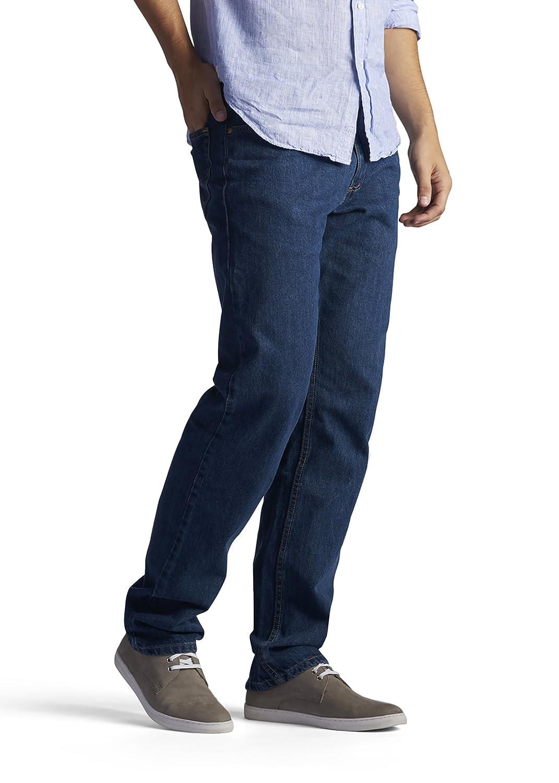 Lee para Hombre Regular Fit Straight Jean - Azul -: Amazon ...
