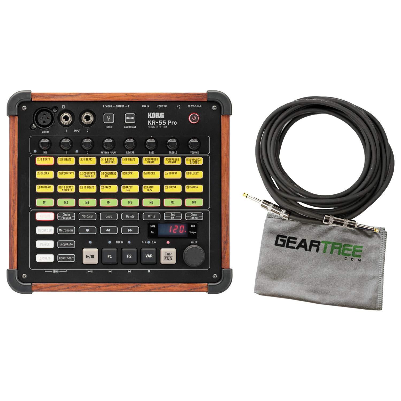 Korg KR-55 Pro Rhythm Drum Machine Synthesizer Bundle w/Cable and Cloth by Korg