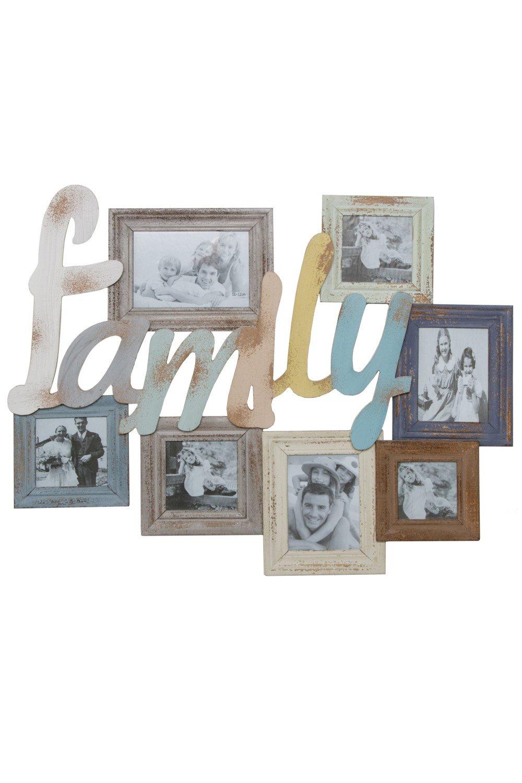 My Flair 161043 Bilderrahmen Collage Gluu mit Schriftzug FAMILY für ...