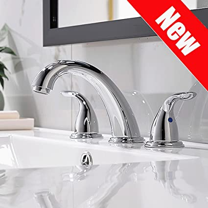 Fabulous Chrome Widespread Bathroom Sink Faucet 8 Inch 3 Pieces Two Handle High Arc With Full Copper Pop Up Drain And Valve By Phiestina Wf008 5 C Interior Design Ideas Helimdqseriescom