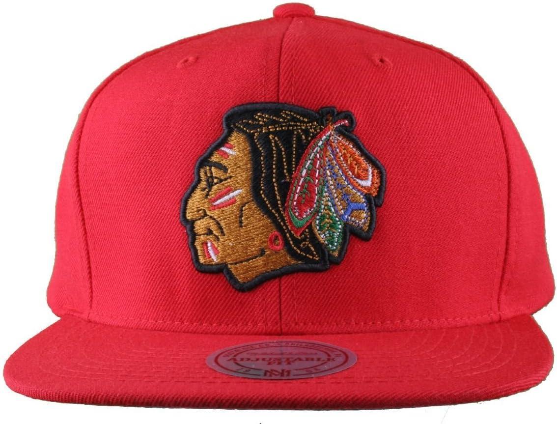 Mitchell & Ness Gorra de los hombres de la Chicago Blackhawks ...