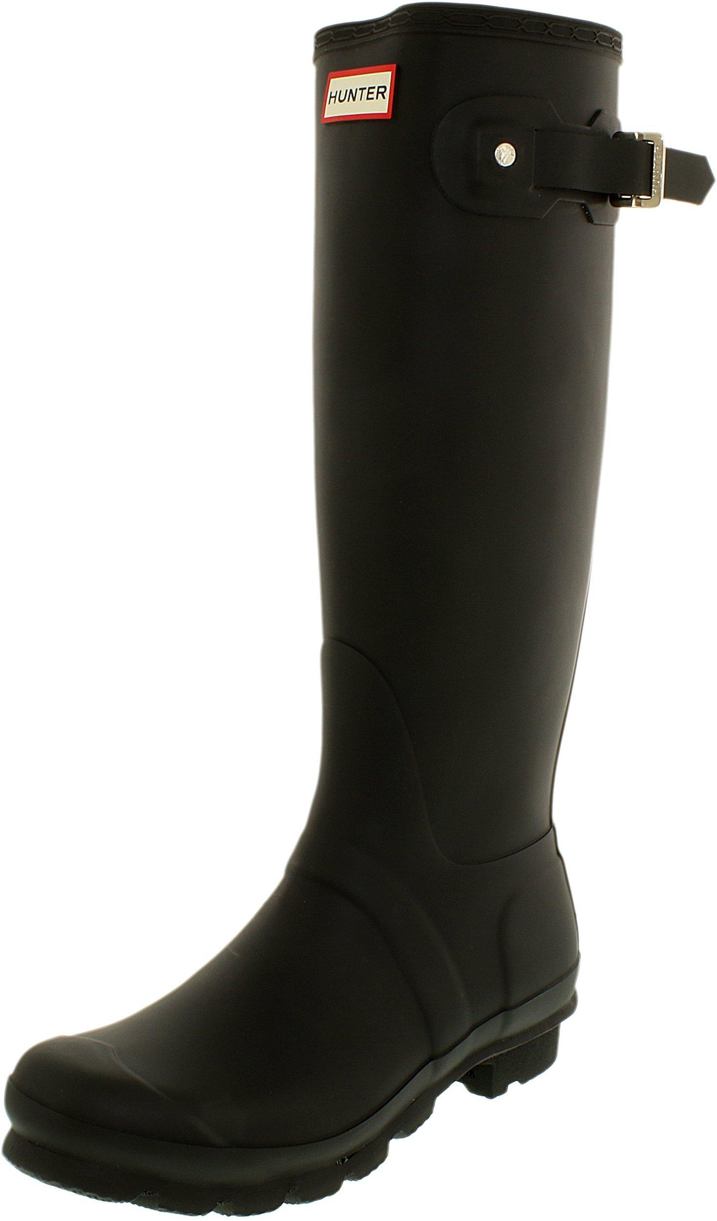 Hunter Women's Original Tall Wellington Boots, Black - 10 B(M) US