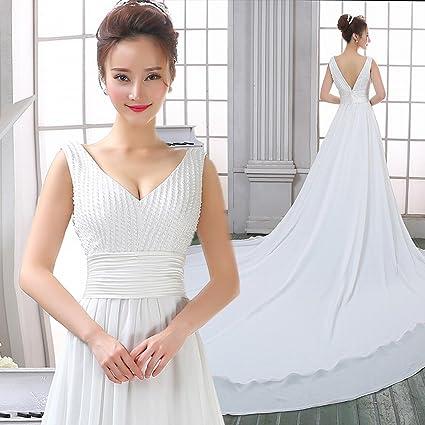 DRESS Fuera de una Sola Boda Vestido de Novia Vestido de Noche Trailing Vestido de Noche