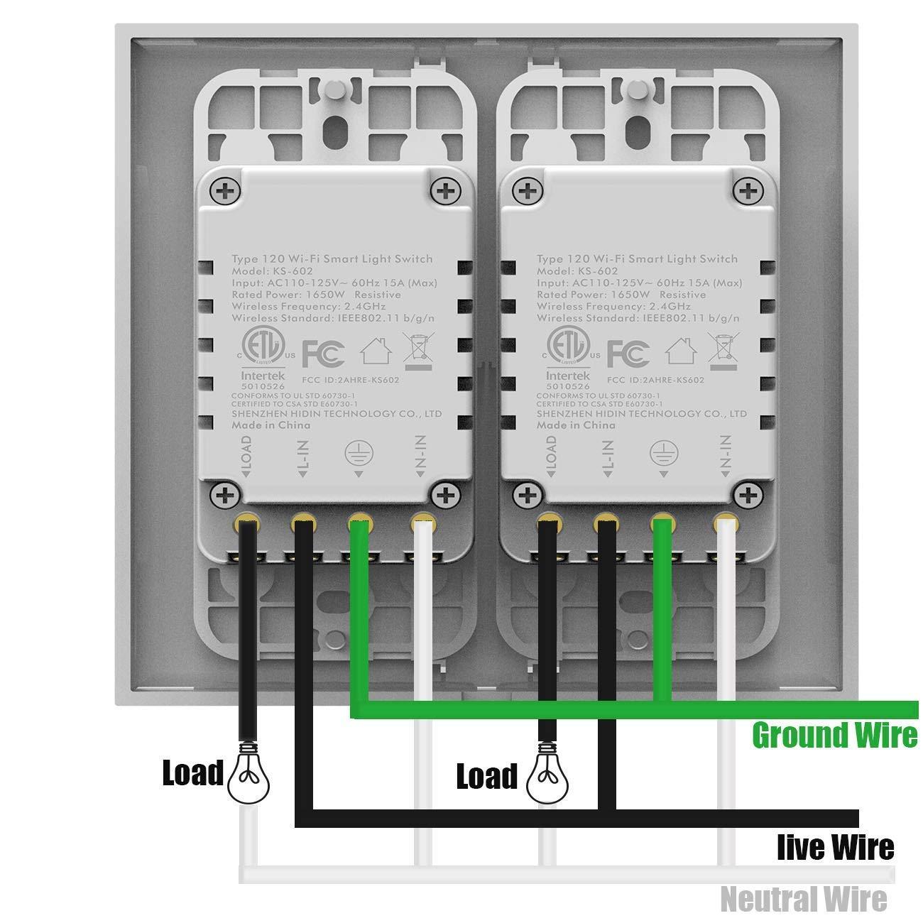 Smart WiFi Switch, Wireless Smartphone Remote Control Wall Light ...