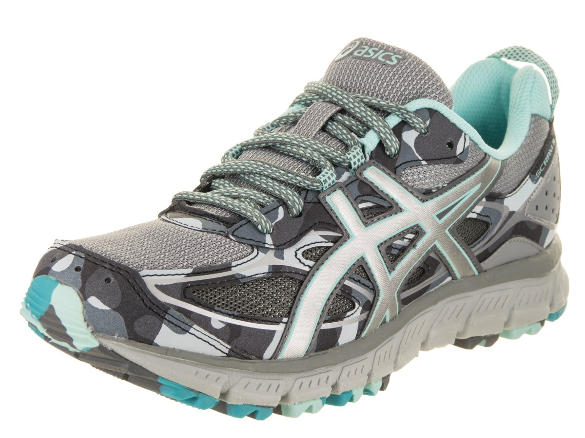 ASICS Women's Gel-Scram 3 Trail Runner B07171YDZ8 11 B(M) US|Stone Grey/Silver/Aruba Blue