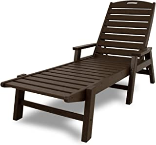 product image for POLYWOOD NCC2280MA-P Nautical Arms Chaise, Mahogany