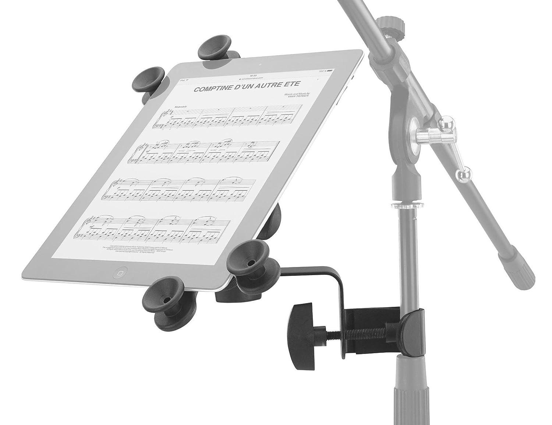 passend f/ür alle g/ängigen Gr/ö/ßen, mit Stativklemme, stufenlos verstellbar Schwarz Pronomic UTH-20 Universal Tablet-PC Halter