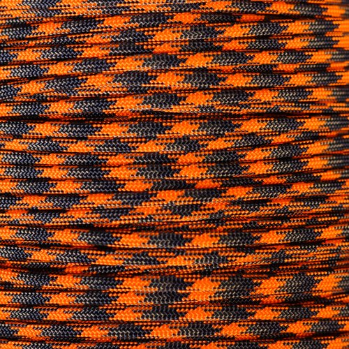 - PARACORD PLANET 10 20 25 50 100 Foot Hanks and 250 1000 Foot Spools of Parachute 550 Cord Type III 7 Strand Paracord (Blaze Orange Camo 50 Feet)