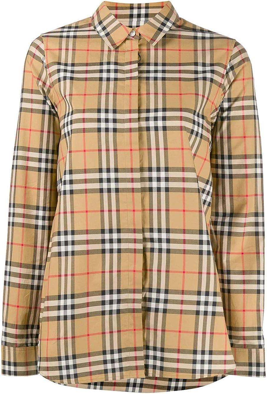 Burberry - Camisa de Invierno para Mujer, Color Beige: Amazon.es: Ropa y accesorios
