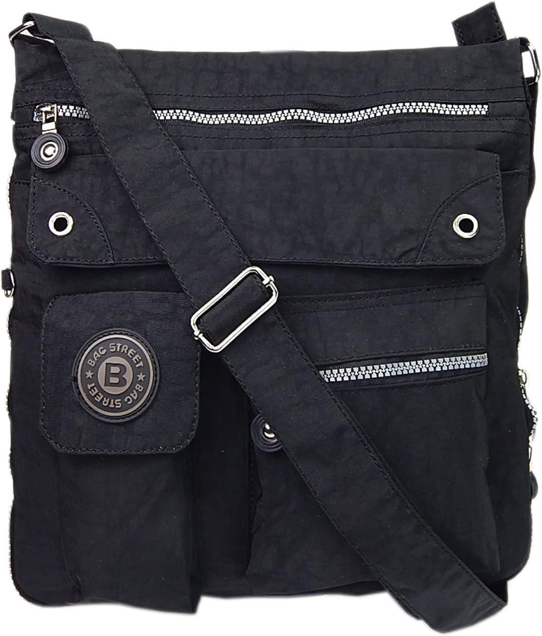 Bag Street - Bolso cruzados para mujer negro negro B 30cm x H 33cm x T 9 bis 15cm
