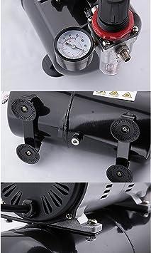Compresor de aerógrafo Fengda FD-189 con calderín / regulador de ...