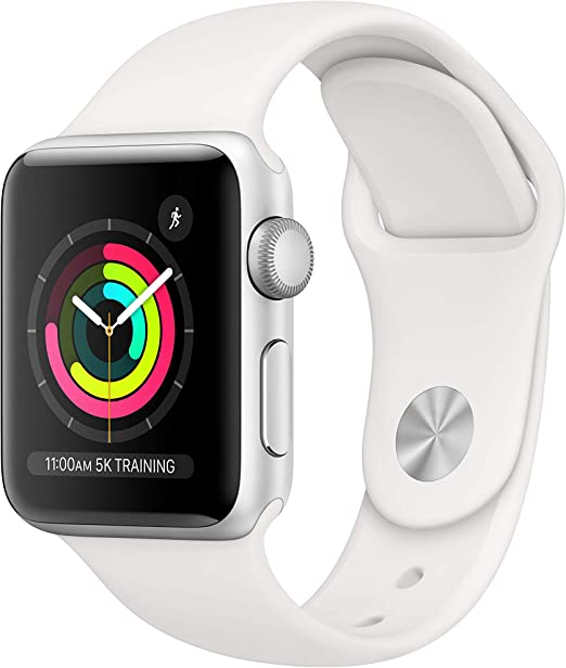 Amazon.com: AppleWatch Series3 (GPS, 38mm) - Silver Aluminum Case with White Sport Band