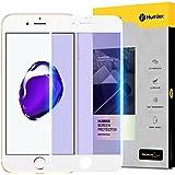 【Humixx】iPhone8plus ガラスフィルム iphone7plus ガラスフィルム ブルーライトカット 目の疲れ軽減 9H硬度 0.3mm薄さ フルカバー 気泡防止 ホワイト