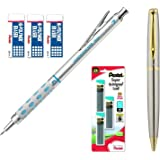 Pentel Graph Gear 1000 Automatic Drafting Pencil (0.7 mm Bundle (Pencil,Leads + Erasers))
