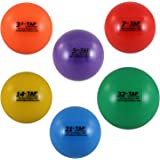 TAP Conditioning TAP Max-Grip Weighted Ball- Set of Six | Plyo Balls Used in Pitching and Hitting Training, Multi-Colored