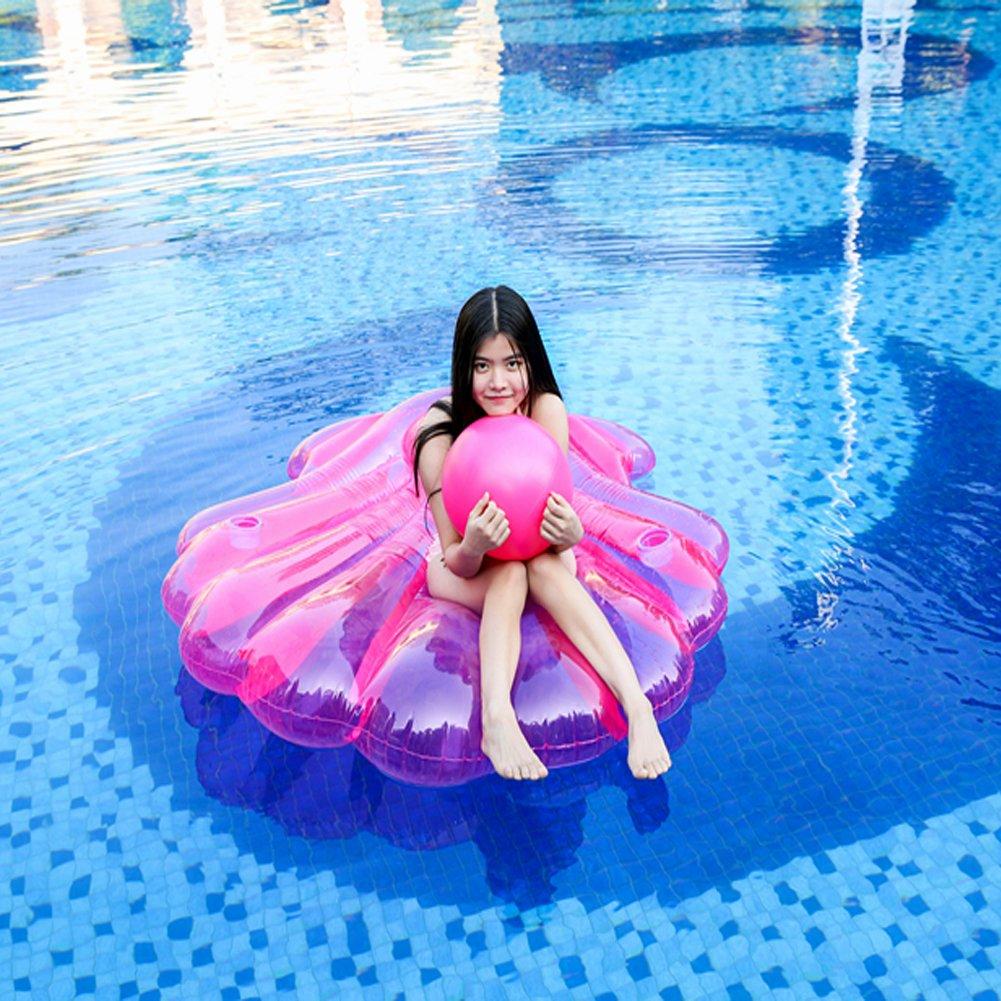 boby Inchables Piscina Flotador Gigante Colchoneta Hinchable Piscina Juguete para Adultos y Niños Concha Rosa 150 x 136 Centímetros: Amazon.es: Juguetes y ...