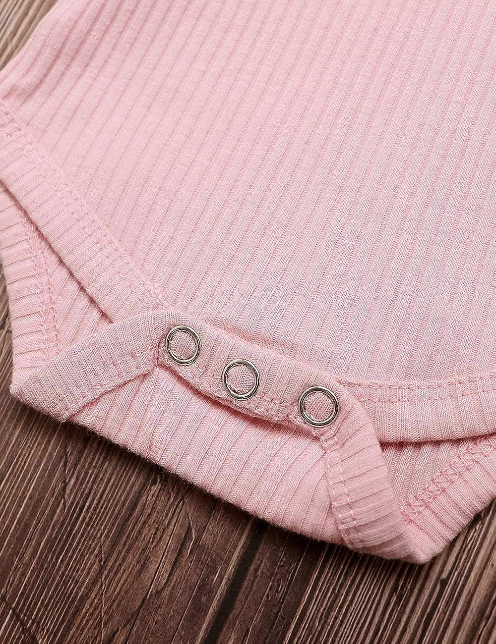 Leopard Pants KANGKANG Toddler Baby Girl Long Sleeve Ruffle Dress Tops Headband Outfit 3Pcs Sets
