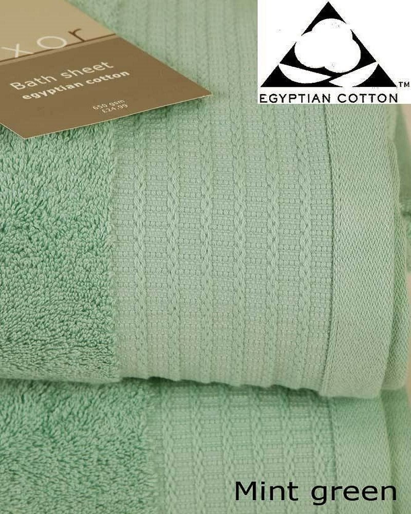 Pair of JUMBO MINT GREEN Prestige 'Luxor' Egyptian Cotton 650gsm Bath Sheets HUGE SIZE 180cm x 100cm Viceroybedding