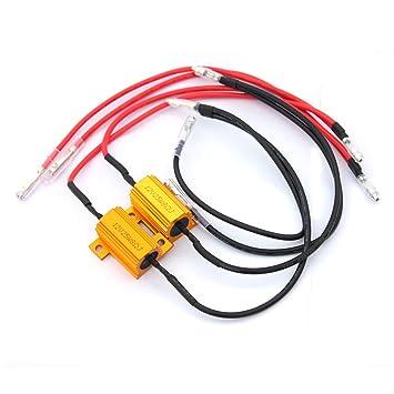 Resistencias de carga de bombillas LED, de 12 V, 8 ohm y 25 W de parpadeo rápido de error, 2 unidades: Amazon.es: Electrónica
