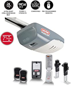 Genie Model 3042-TKH SilentMax 1000 3/4 HPC Belt Drive Added Wireless Keypad Garage Door Opener, 140 V DC Motor & C-Channel Rail System (Renewed)