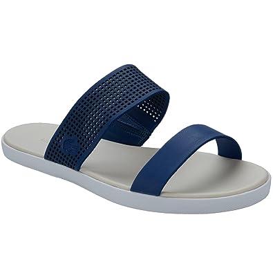 00fa6051412391 Blue Lacoste Womens Natoy Slides Flip Flops  Amazon.co.uk  Shoes   Bags