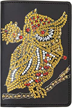 Bright And Dazzling Leopard Print Leather Passport Holder Cover Case Blocking Travel Wallet