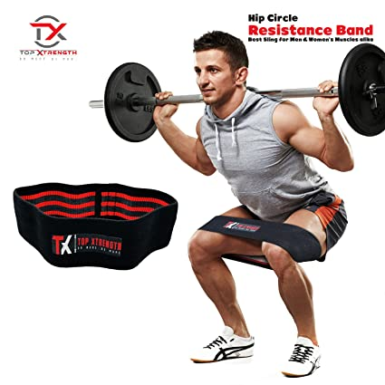 Amazon Com Topxtrength Resistance Hip Band Workout Glute Band