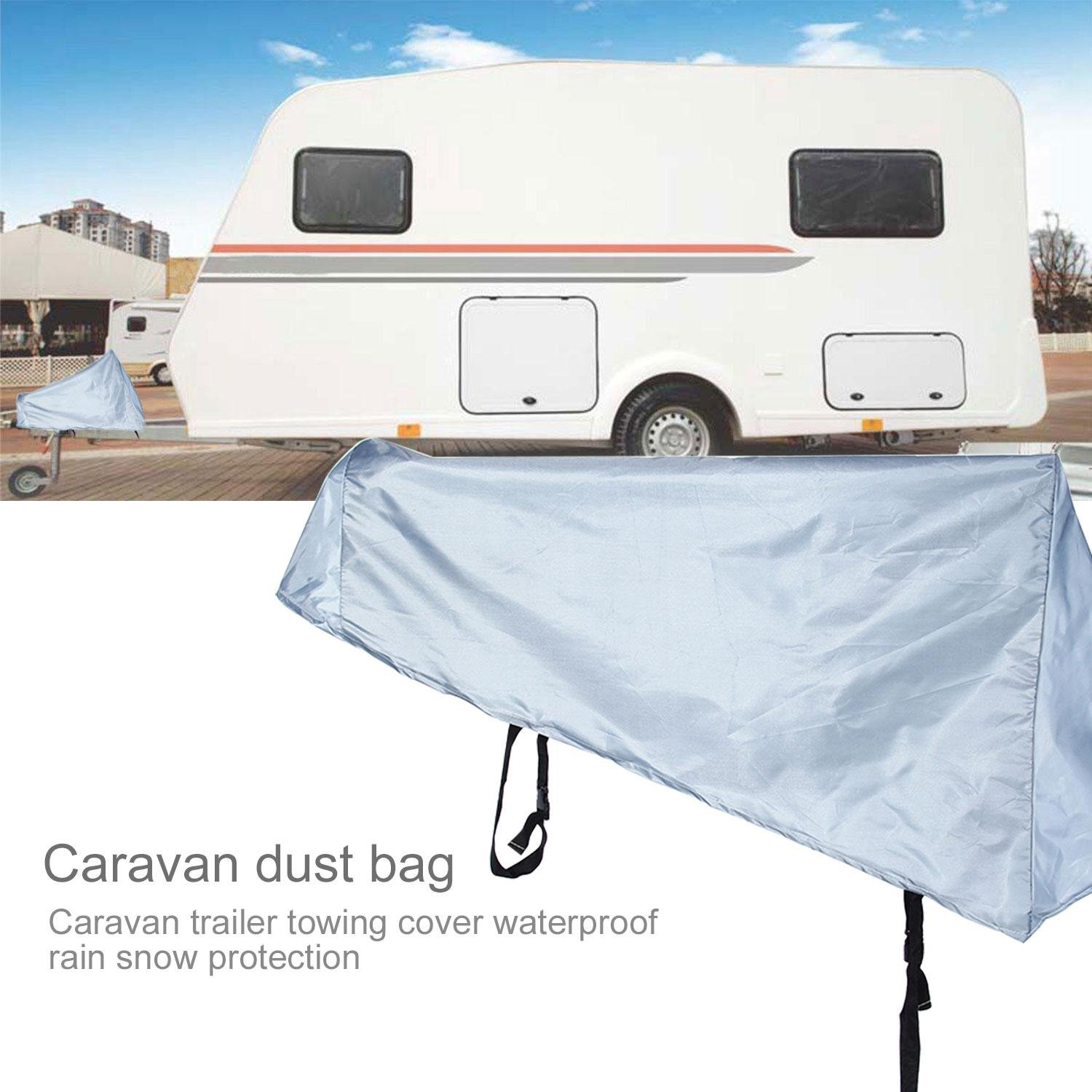 Universal Caravan Trailer Towing Waterproof Rainproof Dust Cover Leegoal Hitch Cover Grey Breathable Tow Hitch Cover