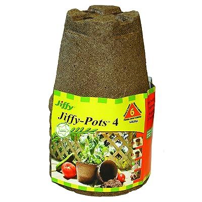 "Jiffy Pots 4"" Round 6 pack: Garden & Outdoor"