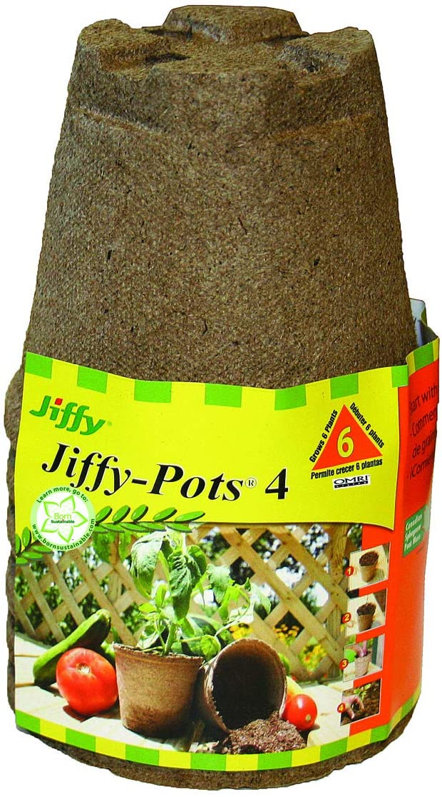 Jiffy Pots 4 Round 6 pack