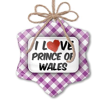Prince Christmas Decorations.Amazon Com Neonblond Christmas Ornament I Love Prince Of