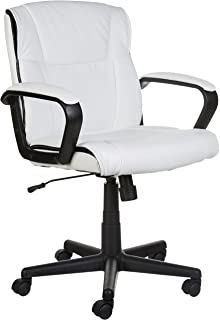 AmazonBasics Mid Back Office Chair, White