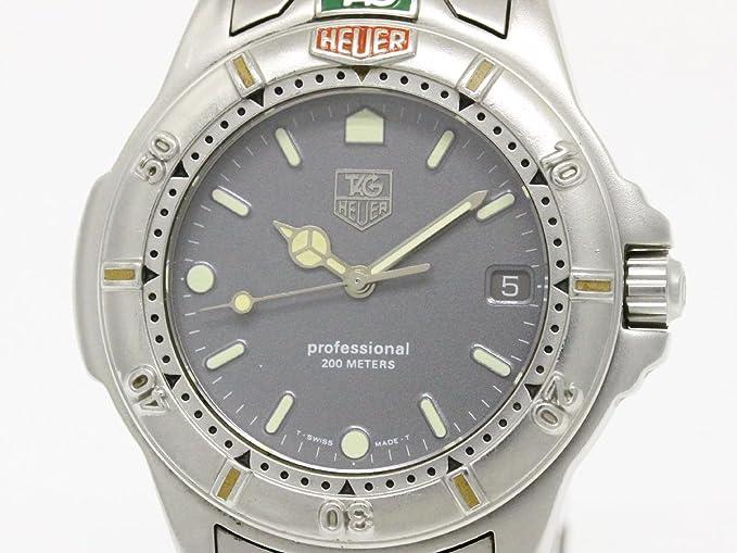 Reloj Tag Heuer 4000 999.206 al cuarzo (batería) acero quandrante gris correa acero: Amazon.es: Relojes