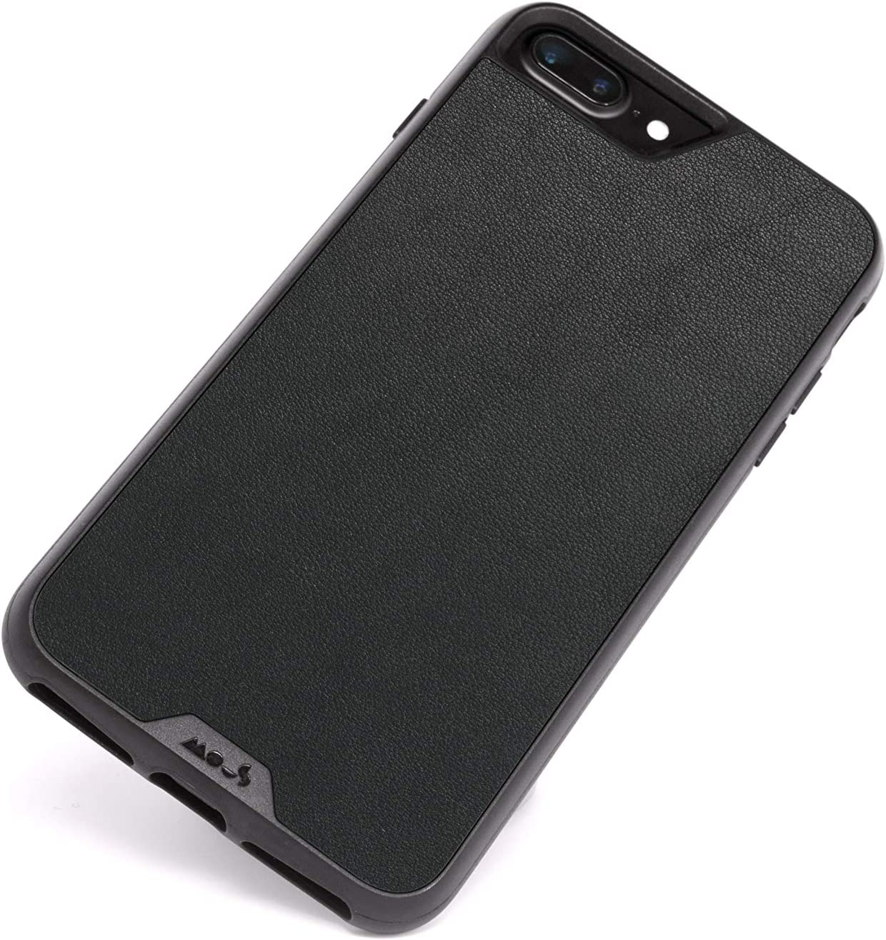 Mous - Protective Case for iPhone 8+/7+/6S+/6+ Plus - Limitless 2.0 - Black Leather - Screen Protector Included
