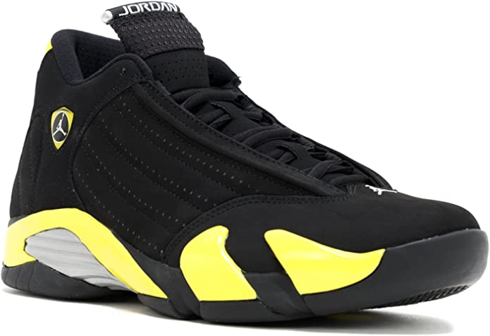 Jordan Air 14 Men's Shoes Black/Vibrant